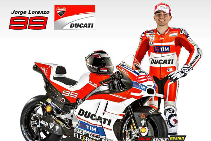 jorge lorenzo teams up with ducati motogp 2017 and 2018 webike thailand. Black Bedroom Furniture Sets. Home Design Ideas