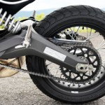 PIRELLI OEM tires are designed especially for SCRAMBLER and are block patterned but don't have slits on the side. It is to correspond to both dirt and paved roads.