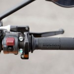 Handle grip, bar end and the section surrounding the switch box is simply designed.