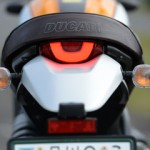 Rear lights are a combination of blinkers with clear lens and LED tail lamp.