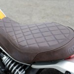 The diamond patterned brown vintage seat (with core) gives the vehicle a big accent.