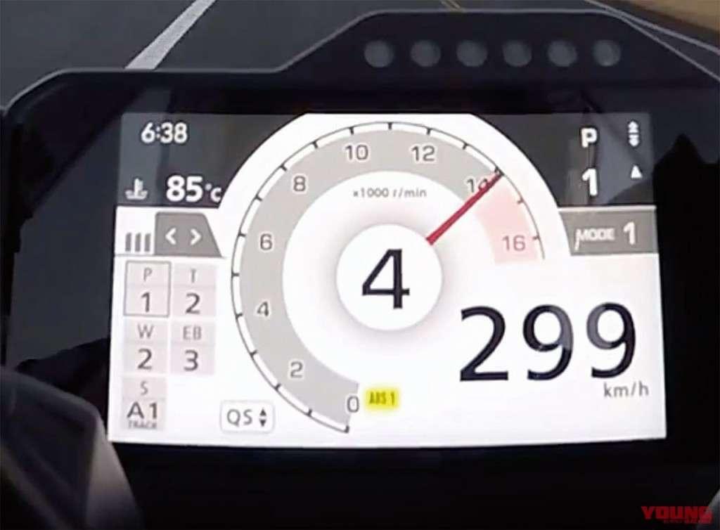 """และนี่คือผลลัพธ์ของ """"ลูกโตชักสั้น"""" ทำให้ CBR1000RR-R สามารถเร่งความเร็วได้ถึง299km/h โดยใช้เพียงแค่4เกียร์เท่านั้น"""